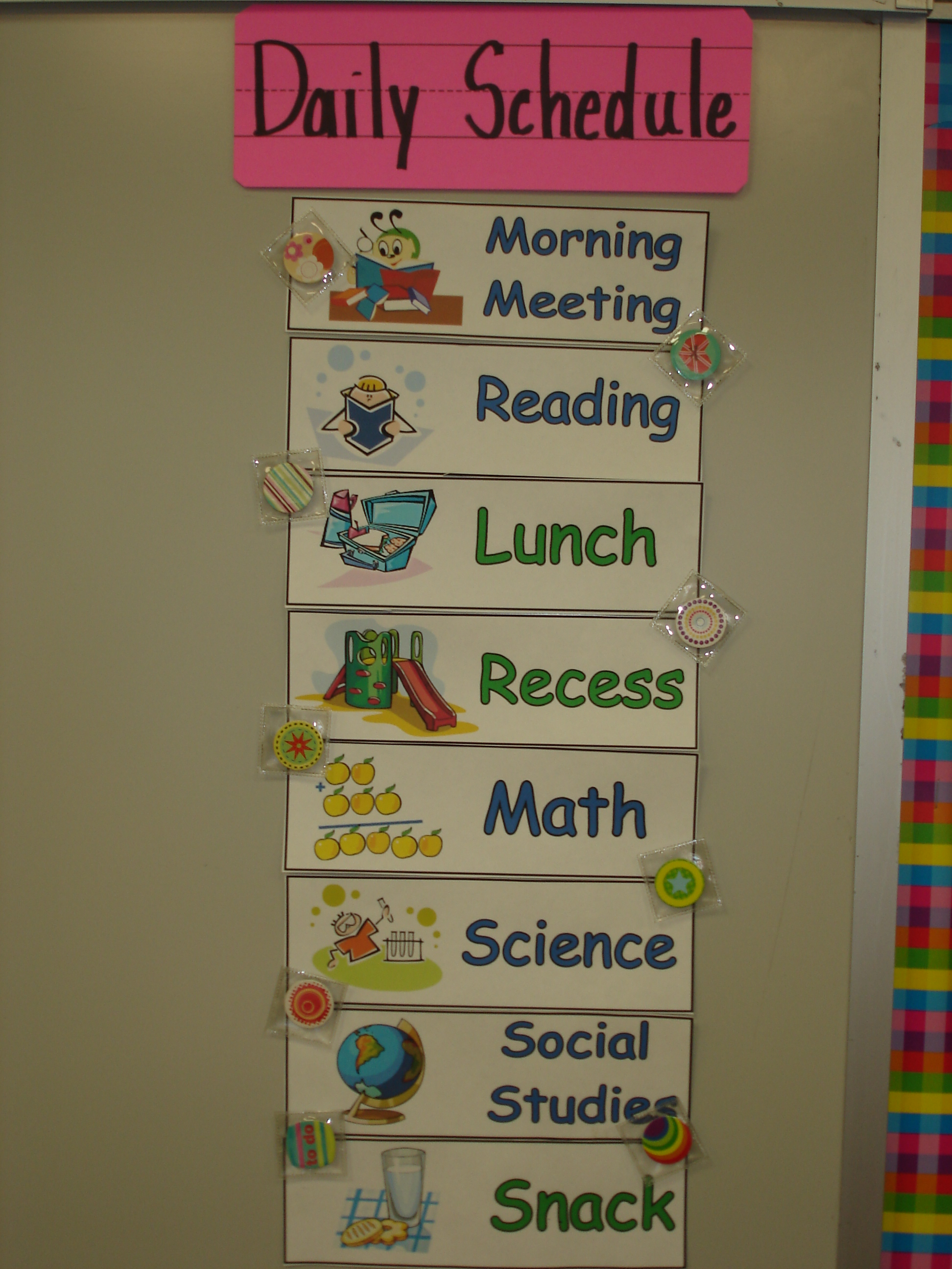 Weekly Schedule Template For Teachers Pictures to Pin – Classroom Agenda Template